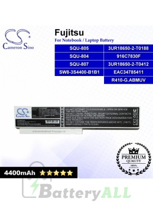CS-FQU804NT For Fujitsu Laptop Battery Model 3UR18650-2-T0188 / 3UR18650-2-T0412 / 916C7830F / EAC34785411 (White)
