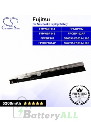 CS-FU1510HB For Fujitsu Laptop Battery Model FMVNBP144 / FMVNBP145 / FPCBP101 / FPCBP101AP / FPCBP102
