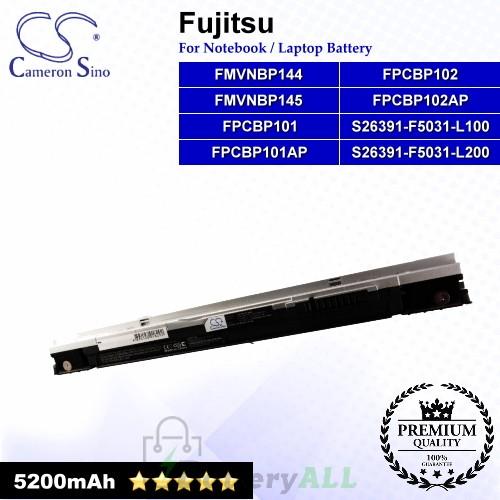 CS-FU1510HB For Fujitsu Laptop Battery Model FMVNBP144 / FMVNBP145 / FPCBP101 / FPCBP101AP / FPCBP102