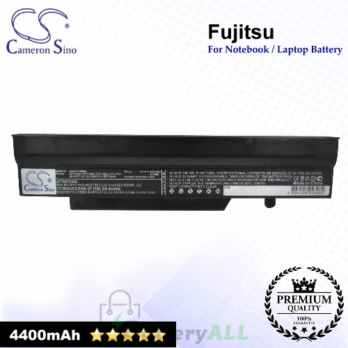 CS-FU1720NB For Fujitsu Laptop Battery Model 0.4U50T.011 / 3UR18650-2-T0169 / 3UR18650F-2-QC-12