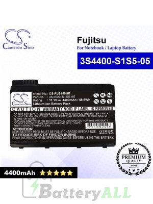 CS-FU2450NB For Fujitsu Laptop Battery Model 3S4400-S1S5-05 / 3S4400-S3S6-07 (Black)