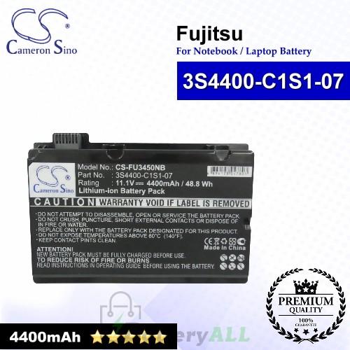 CS-FU3450NB For Fujitsu Laptop Battery Model 3S4400-C1S1-07 / 3S4400-G1L3-07 (Black)