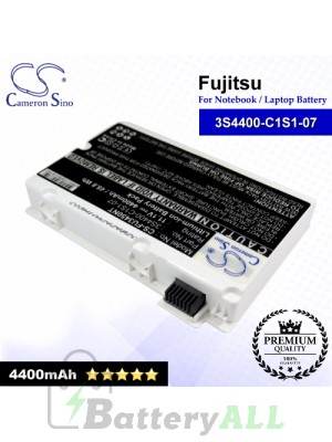 CS-FU3450NT For Fujitsu Laptop Battery Model 3S4400-C1S1-07 / 3S4400-G1L3-07 (White)