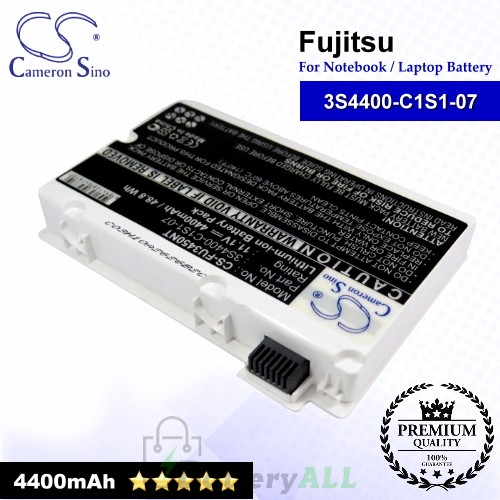 CS-FU3450NT For Fujitsu Laptop Battery Model 3S4400-C1S1-07 / 3S4400-G1L3-07 (White)