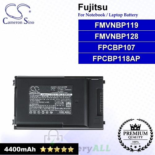 CS-FU6240NB For Fujitsu Laptop Battery Model FMVNBP119 / FMVNBP128 / FPCBP107 / FPCBP117 / FPCBP118