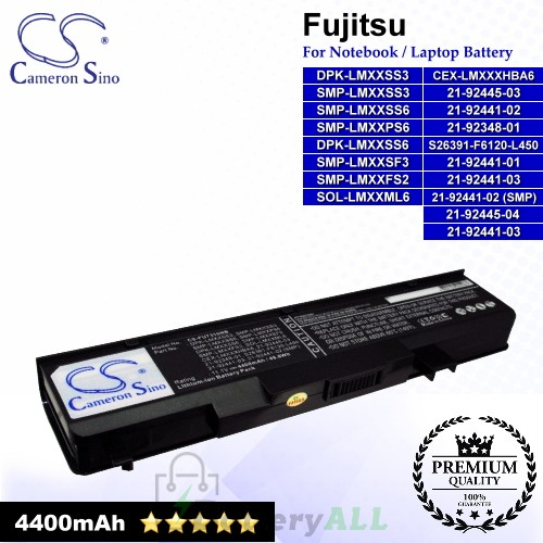 CS-FU7310NB For Fujitsu Laptop Battery Model 21-92348-01 / 21-92441-01 / 21-92441-02 / 21-92441-02 (SMP)