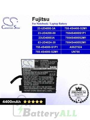 CS-FUD6830NB For Fujitsu Laptop Battery Model 23UD40003A / 23-UD4000-3A / 63-UD4024-30 / 7554S4000S1P1
