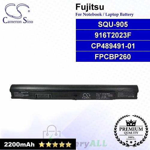 CS-FUH330NB For Fujitsu Laptop Battery Model 916T2023F / CP489491-01 / FPCBP260 / SQU-905