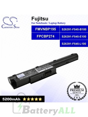 CS-FUH531NB For Fujitsu Laptop Battery Model FMVNBP195 / FPCBP274 / S26391-F545-B100 / S26391-F545-E100