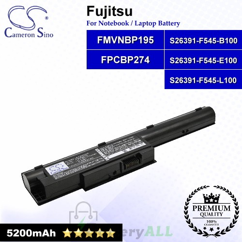 CS-FUH531NB For Fujitsu Laptop Battery Model FMVNBP195 / FPCBP274 / S26391-F545-B100 / S26391-F545-E100