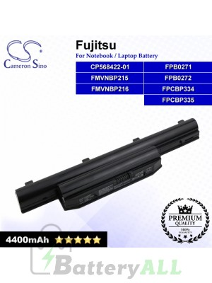 CS-FUH532NB For Fujitsu Laptop Battery Model CP568422-01 / FMVNBP215 / FMVNBP216 / FPB0271 / FPB0272