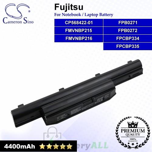 CS-FUH532NB For Fujitsu Laptop Battery Model CP568422-01 / FMVNBP215 / FMVNBP216 / FPB0271 / FPB0272