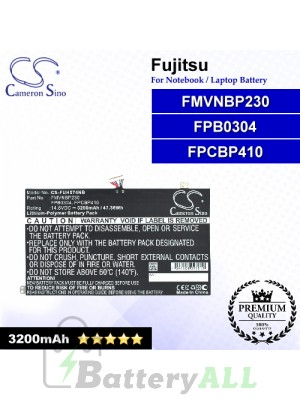 CS-FUH574NB For Fujitsu Laptop Battery Model FMVNBP230 / FPB0304 / FPCBP410
