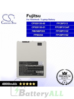 CS-FUQ550NB For Fujitsu Laptop Battery Model CP520130-00 / CP520130-01 / FMVNBP203 / FPB0254 / FPCBP313