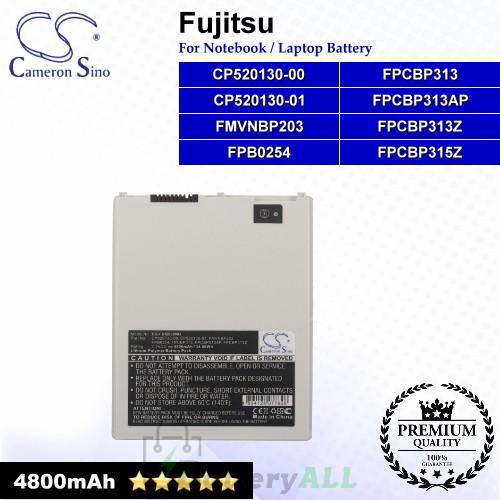 CS-FUQ550NB For Fujitsu Laptop Battery Model CP520130-00 / CP520130-01 / FMVNBP203 / FPB0254 / FPCBP313