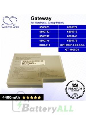 CS-GW400NB For Gateway Laptop Battery Model 4UR18650F-3-QC-OA4L / 6500673 / 6500674 / 6500712 / 6500713