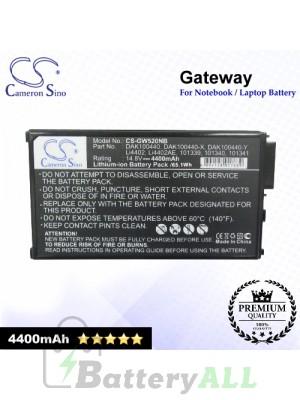 CS-GW520NB For Gateway Laptop Battery Model 101069 / 101339 / 101340 / 101341 / 101343 / 102738 / 102739