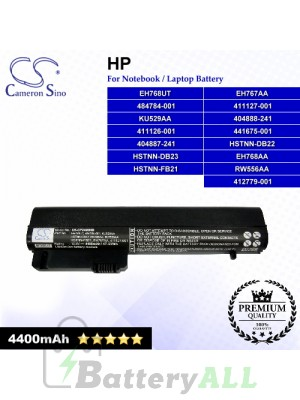 CS-CP2400NB For HP Laptop Battery Model 412789-001 / BJ803AA / HSTNN-XB21 / HSTNN-XB22 / HSTNN-XB23 / MS06XL
