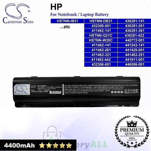CS-CV3000HL For HP Laptop Battery Model 411462-141 / 411462-261 / 411462-321 / 411462-421 / 411462-442 / 417066-001