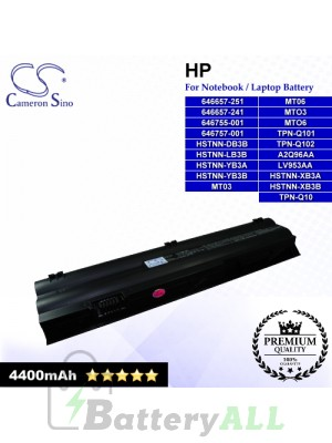 CS-HDM1NB For HP Laptop Battery Model 646657-241 / 646657-251 / 646755-001 / 646757-001 / A2Q96AA / HSTNN-DB3B