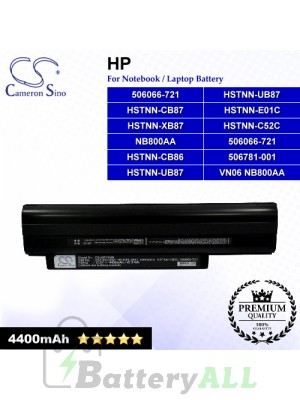 CS-HDV2NB For HP Laptop Battery Model 506066-721 / 506781-001 / HSTNN-C52C / HSTNN-CB86 / HSTNN-CB87