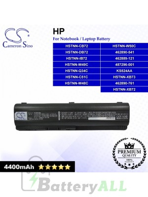 CS-HDV4NB For HP Laptop Battery Model 462889-121 / 462889-421 / 462890-151 / 462890-161 / 462890-541 / 462890-751