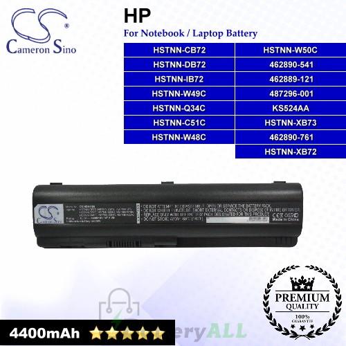 CS-HDV4NB For HP Laptop Battery Model 462889-121 / 462889-421 / 462890-151 / 462890-161 / 462890-541 / 462890-751