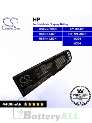 CS-HDV6NB For HP Laptop Battery Model 671567-421 / 671567-831 / 671731-001 / 672326-421 / 672412-001 / H2L55AA
