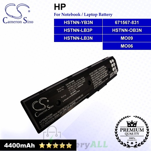 CS-HDV6NB For HP Laptop Battery Model 671567-421 / 671567-831 / 671731-001 / 672326-421 / 672412-001 / H2L55AA