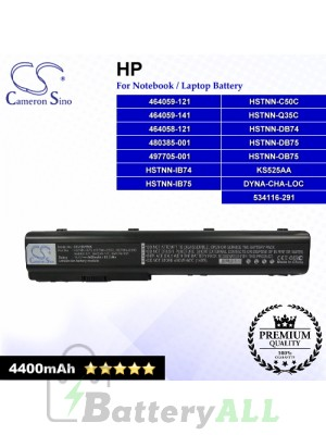 CS-HDV7NB For HP Laptop Battery Model 464058-121 / 464059-121 / 464059-141 / 480385-001 / 497705-001 / 534116-291