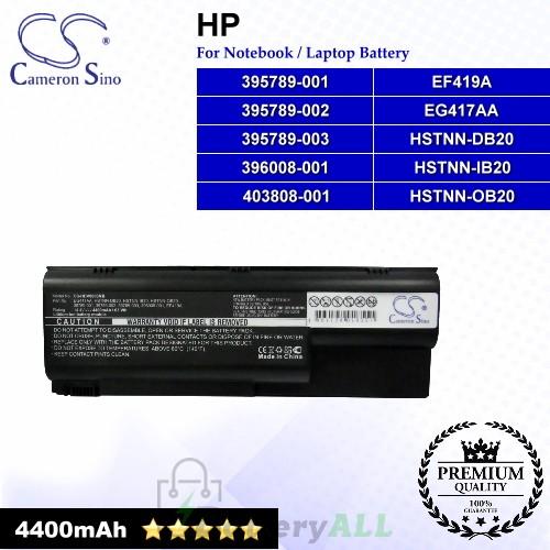 CS-HDV8000NB For HP Laptop Battery Model 395789-001 / 395789-002 / 395789-003 / 396008-001 / 403808-001 / EF419A