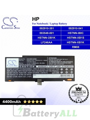 CS-HEN140NB For HP Laptop Battery Model 592910-351 / 592910-541 / 593548-001 / 635146-001 / HSTNN-I80C / HSTNN-OB1K