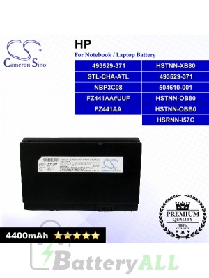 CS-HP1000HB For HP Laptop Battery Model 493529-371 / 504610-001 / FZ441AA / FZ441AA#UUF / HSTNN-OB80