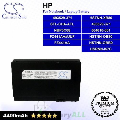 CS-HP1000HB For HP Laptop Battery Model 493529-371 / 504610-001 / FZ441AA / FZ441AA#UUF / HSTNN-OB80