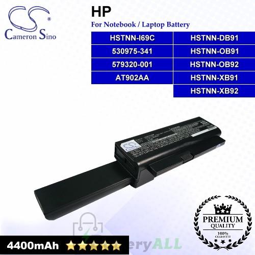 CS-HP4210HB For HP Laptop Battery Model 530975-341 / 579320-001 / AT902AA / HSTNN-DB91 / HSTNN-I69C