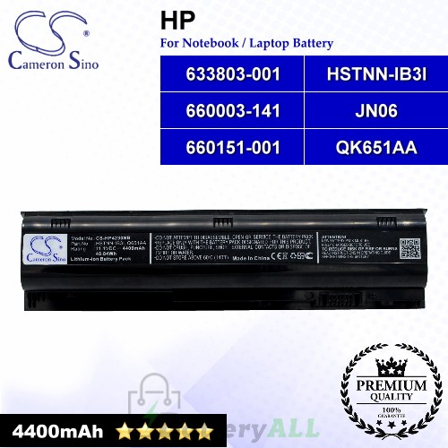 CS-HP4230NB For HP Laptop Battery Model 633803-001 / 660003-141 / 660151-001 / HSTNN-IB3I / JN06 / QK651AA