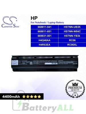CS-HP4340NB For HP Laptop Battery Model 668811-541 / 668811-851 / 669831-001 / H4Q46AA / H4R53EA / HSTNN-UB3K