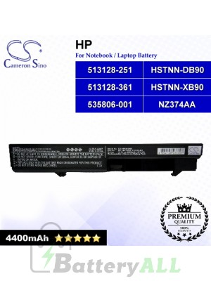 CS-HP4410NB For HP Laptop Battery Model 513128-251 / 513128-361 / 535806-001 / HSTNN-DB90 / HSTNN-XB90 / NZ374AA