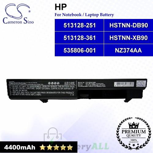 CS-HP4410NB For HP Laptop Battery Model 513128-251 / 513128-361 / 535806-001 / HSTNN-DB90 / HSTNN-XB90 / NZ374AA