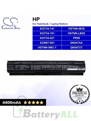CS-HP4730NB For HP Laptop Battery Model 633734-141 / 633734-151 / 633734-421 / 633807-001 / HSTNN-I98C-7