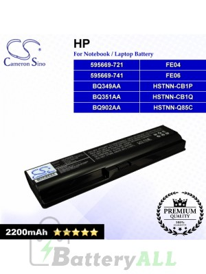CS-HP5220NB For HP Laptop Battery Model 595669-721 / 595669-741 / BQ349AA / BQ351AA / BQ902AA / FE04