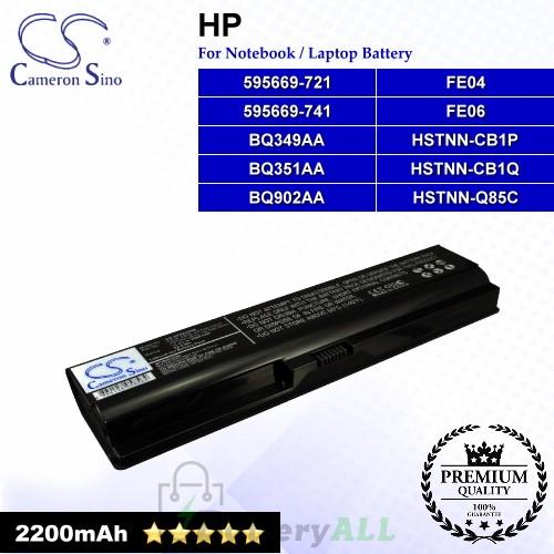 CS-HP5220NB For HP Laptop Battery Model 595669-721 / 595669-741 / BQ349AA / BQ351AA / BQ902AA / FE04