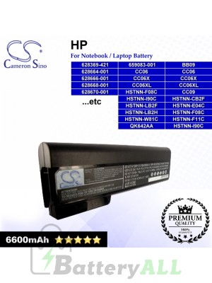 CS-HP8460HB For HP Laptop Battery Model 628368-241 / 628368-251 / 628368-351 / 628368-421 / 628368-541 / 628368-741