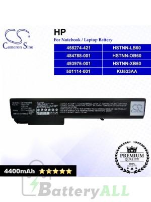 CS-HP8530HB For HP Laptop Battery Model 458274-421 / 484788-001 / 493976-001 / 501114-001 / HSTNN-LB60