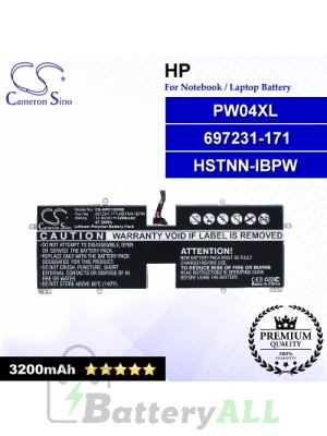 CS-HPC105NB For HP Laptop Battery Model 697231-171 / HSTNN-IBPW / PW04XL