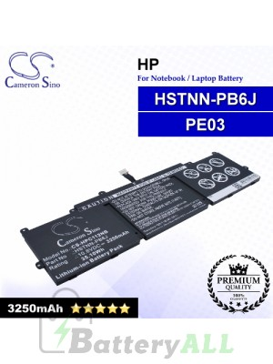 CS-HPC112NB For HP Laptop Battery Model 767068-005 / HSTNN-PB6J / PE03 / PE03XL