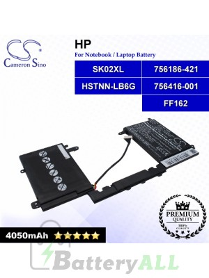 CS-HPC118NB For HP Laptop Battery Model 756186-421 / 756416-001 / FF162 / HSTNN-LB6G / SK02XL