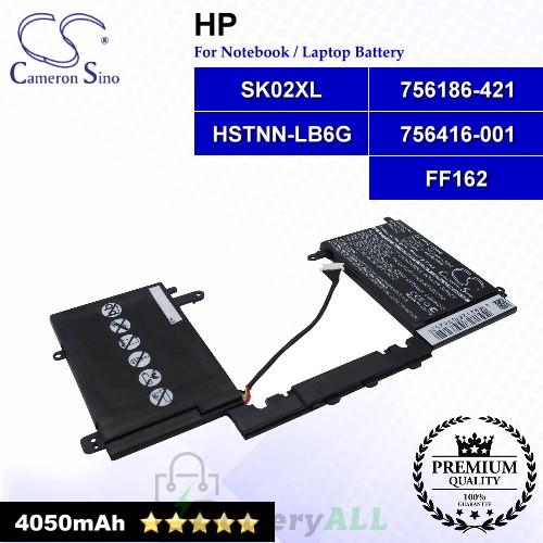 CS-HPC118NB For HP Laptop Battery Model 756186-421 / 756416-001 / FF162 / HSTNN-LB6G / SK02XL