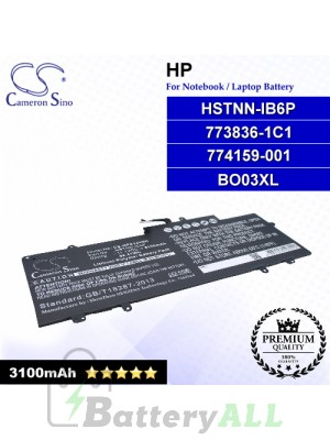 CS-HPC140NB For HP Laptop Battery Model 773836-1C1 / 774159-001 / BO03XL / HSTNN-IB6P