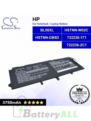 CS-HPE104NB For HP Laptop Battery Model 722236-171 / 722236-2C1 / BL06XL / HSTNN-DB5D / HSTNN-W02C